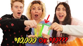 DON'T PICK THE WRONG $10 VS $10,000 MONEY CARD challenge!