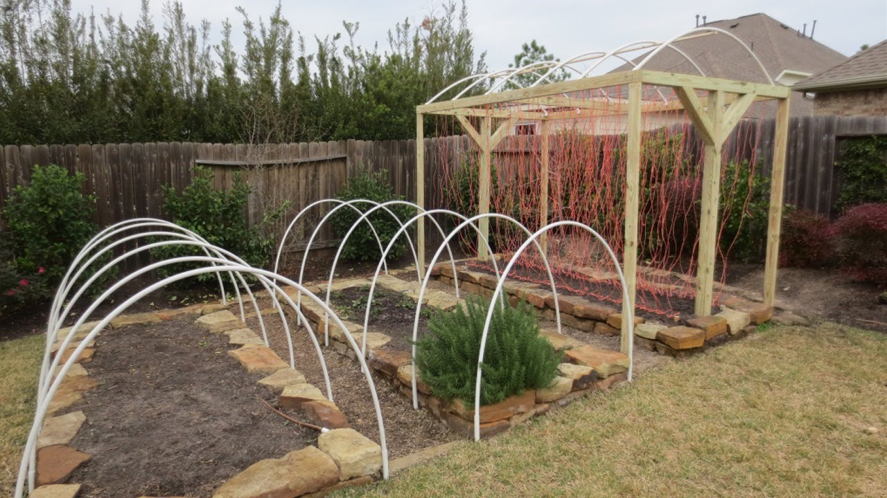 Marys Garden Low Tunnel Row Cover T Frame Arch Installation