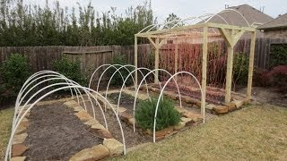 Mary's Garden: Low Tunnel Row Cover & T-Frame Arch Installation