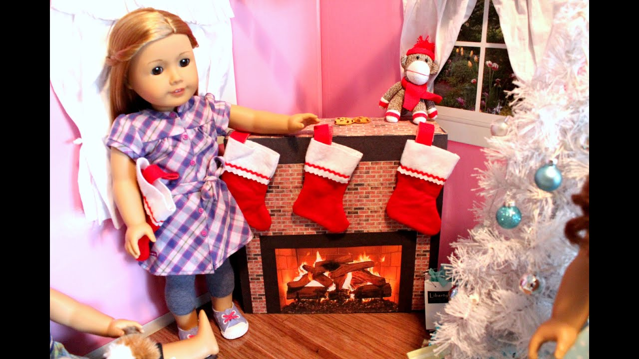 American Girl Doll Fireplace Craft Tutorial! - YouTube
