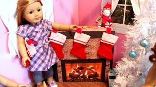 American Girl Doll Fireplace Craft Tutorial!