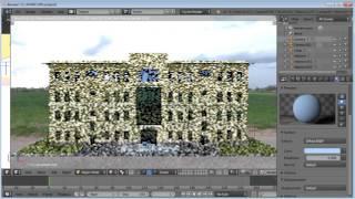 Визуализация модели Renga Architecture в Blender