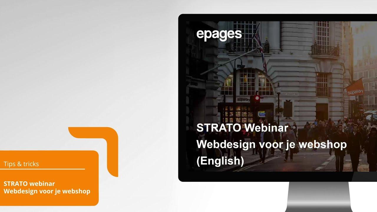 Webinar STRATO Webshop Now webdesign voor je webshop