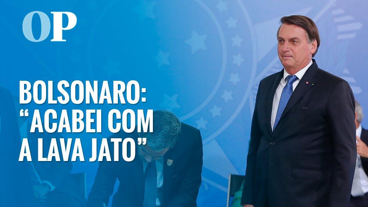 """Bolsonaro: """"Acabei com Lava Jato, porque não tem corrupção no governo"""" -  YouTube"""