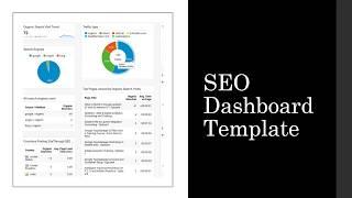 SEO Google Analytics Dashboard template