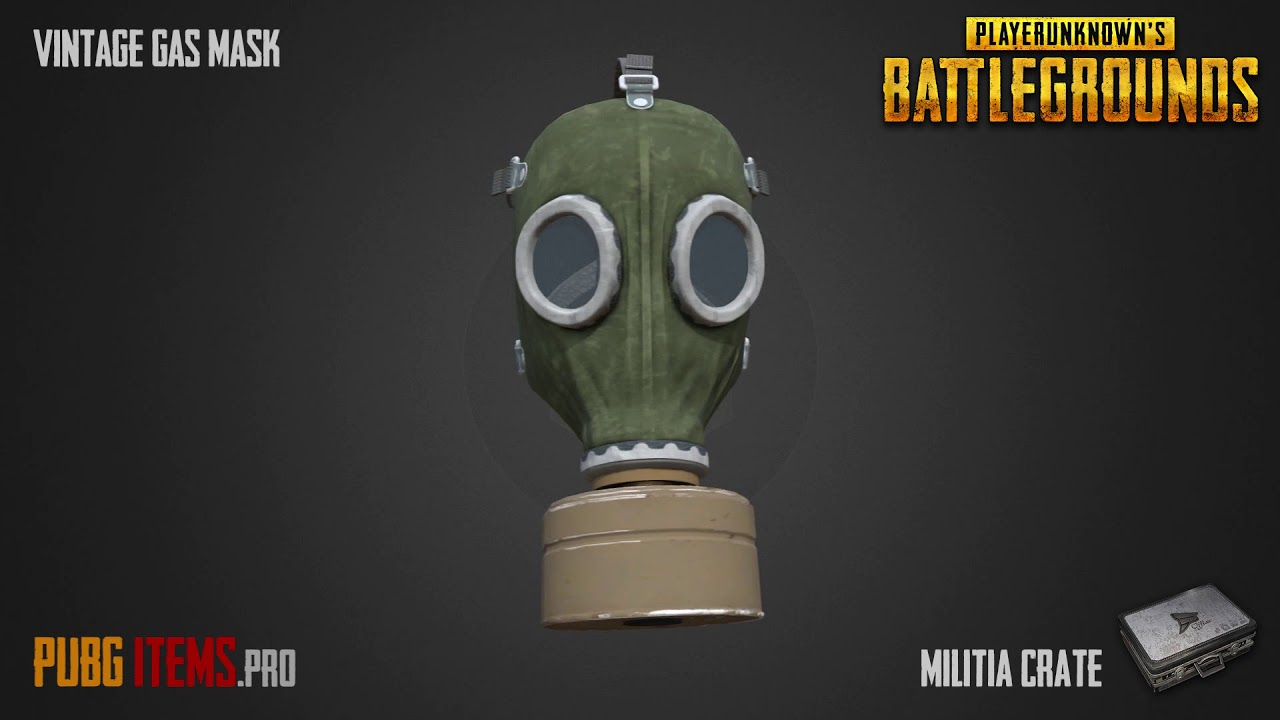 Vintage Gas Mask Pubg Item Showcase Youtube