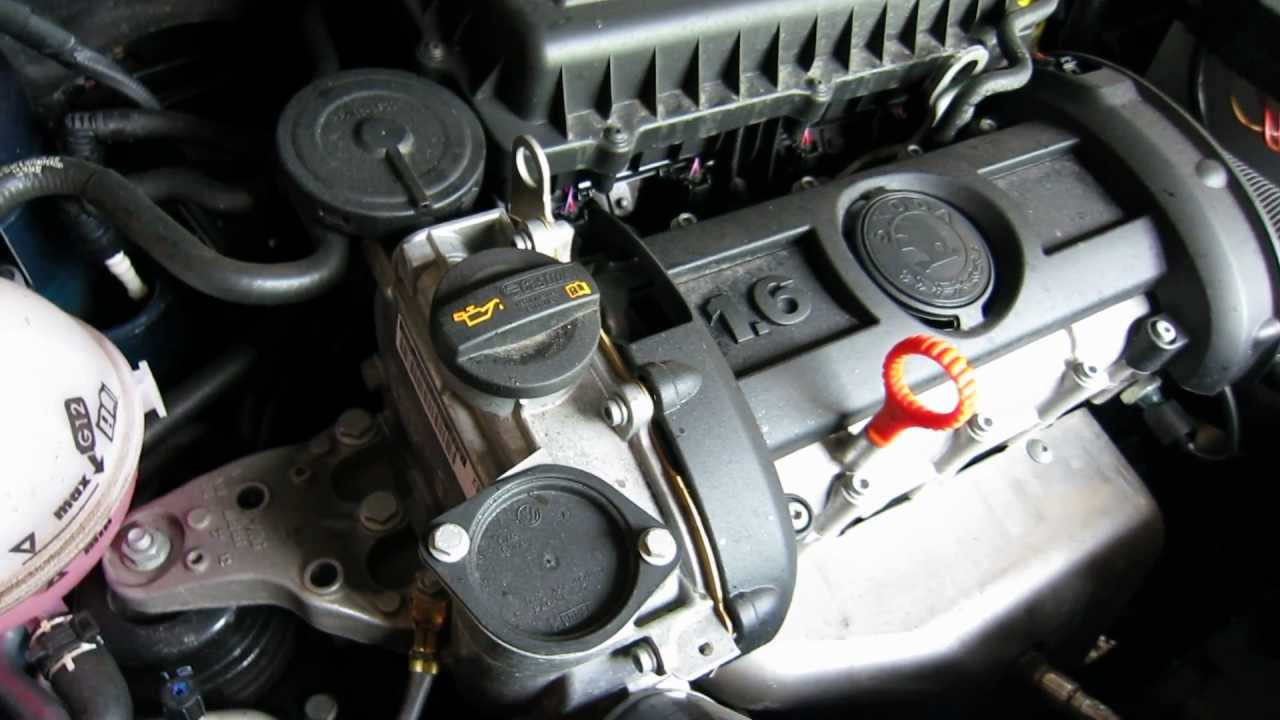 VW 1.6L 16V CFNA engine running