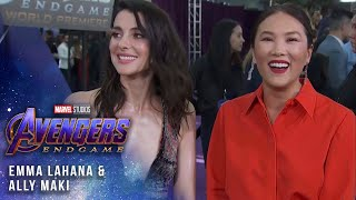 Emma Lahana and Ally Maki at the Premiere
