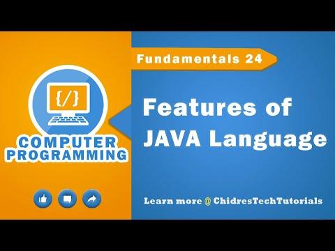 java-programming-tutorial-17---features-of-java-programming-language