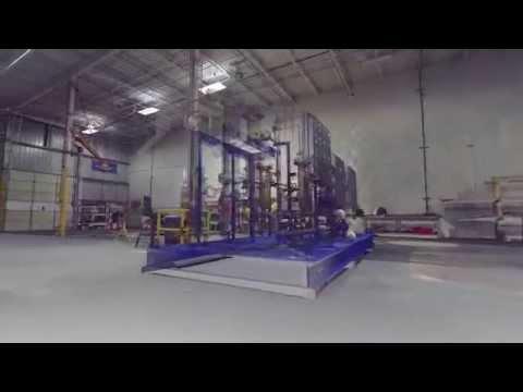 3D Laser Scan of industrial process module & empty SS fab shop
