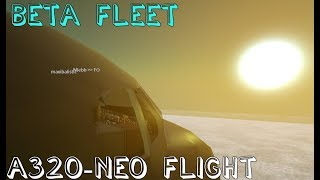 ROBLOX Beta Fleet A320-NEO Flight! (working)