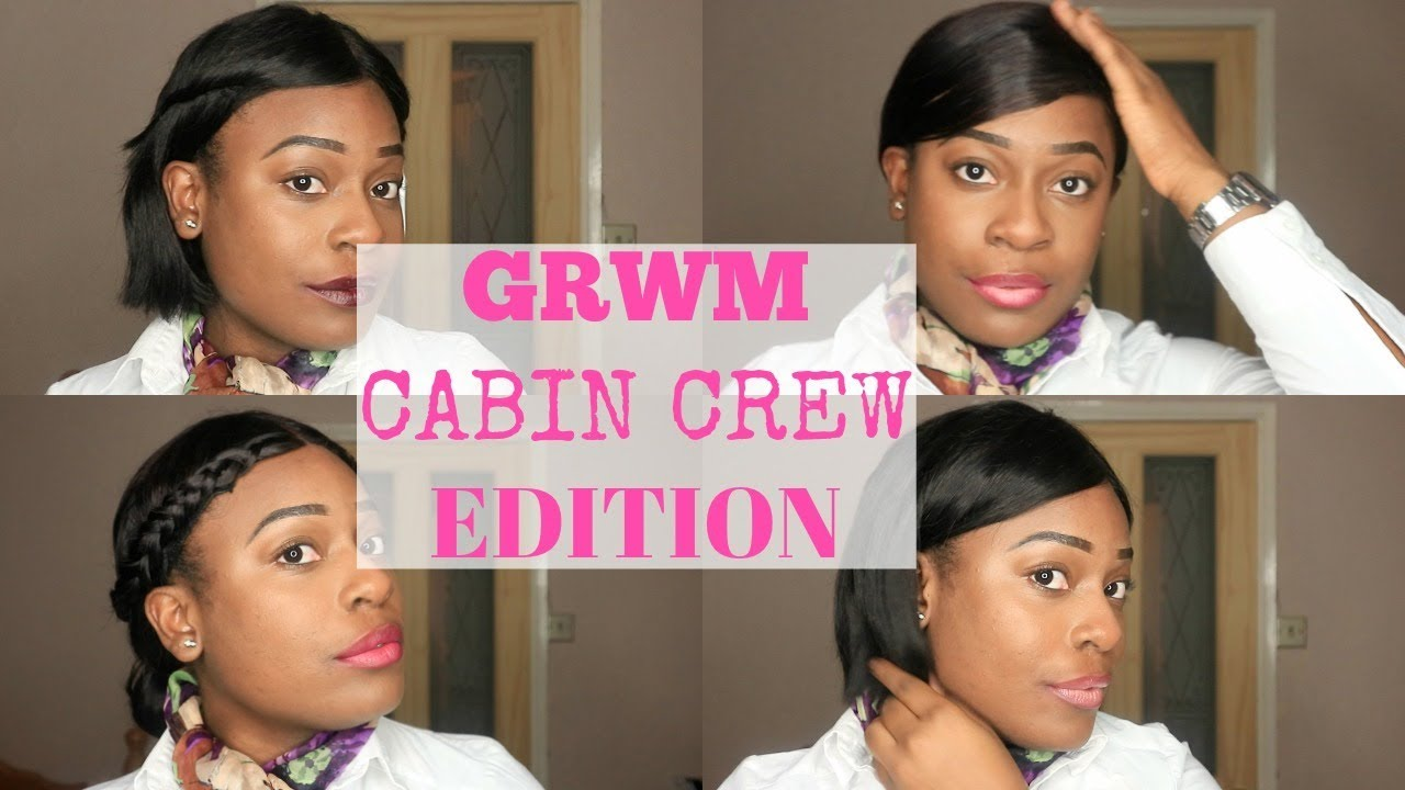 grwm cabin crew tutorial | empress rhi rhi - youtube
