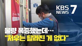 택배·배달 폭증…노동자 '쉴 수가 없다' / KBS뉴스…