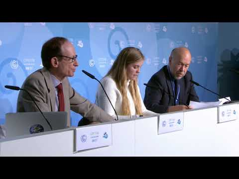 James Hansen & Granddaughter Sophie at COP-23: Young People'
