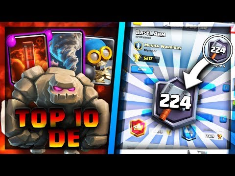 TOP200 GLOBAL/TOP10 DEUTSCHLAND MIT GOLEM   Große Siegesserie!   Clash Royale