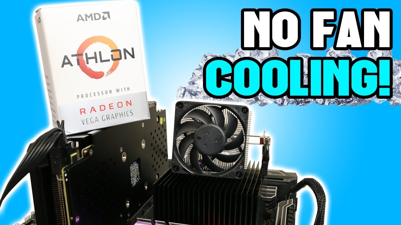 Cooling The Athlon 200ge With No Fans Youtube