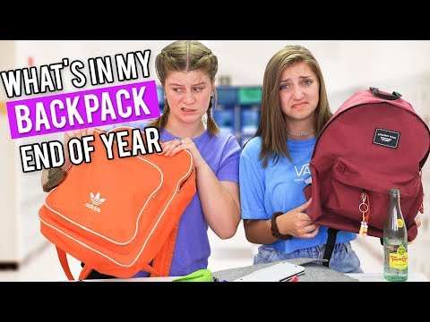 What's in My Backpack?? (End of School Year 2019)
