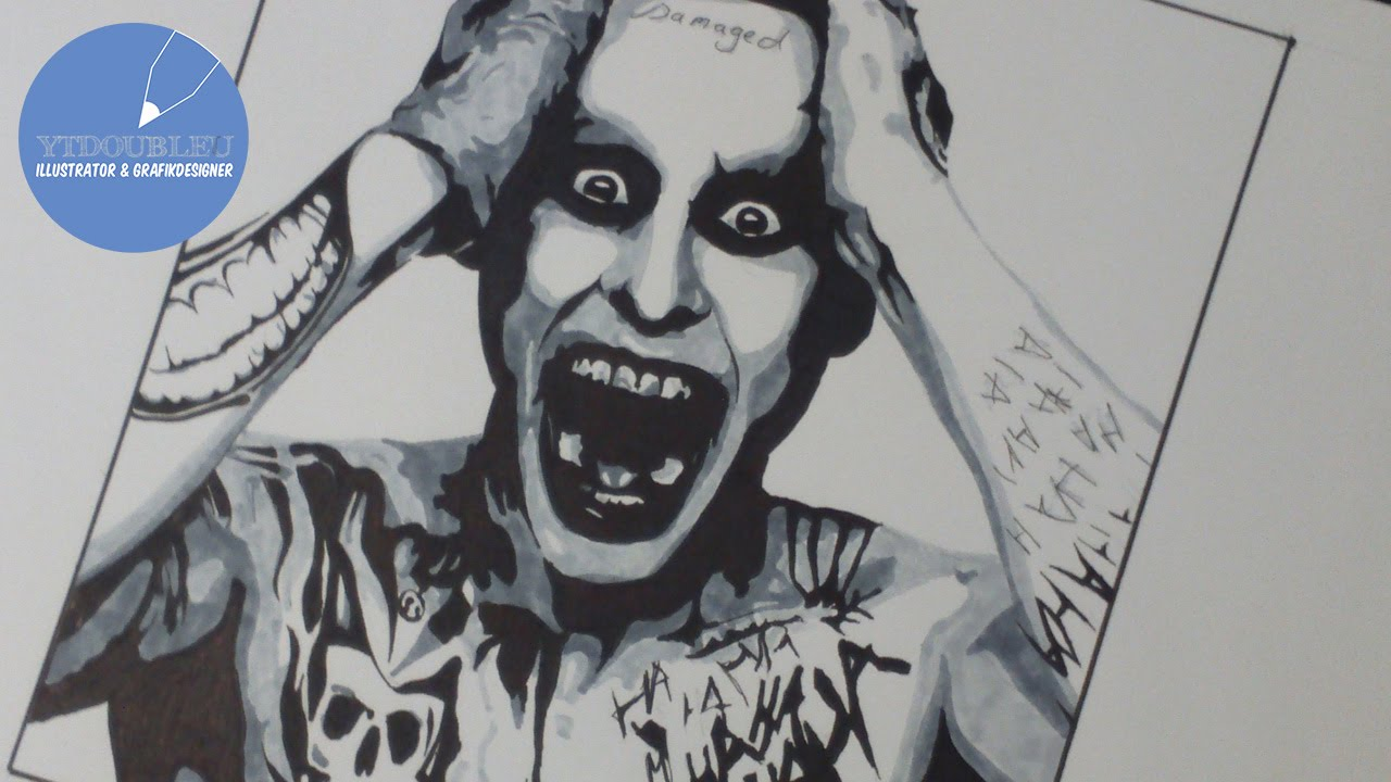 Drawing Jared Leto As The Joker