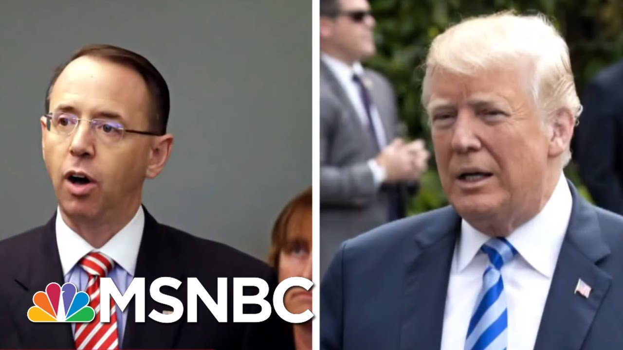 Wash Post: Donald Trump Doesn't Trust Rod Rosenstein After NYT Story | The 11th Hour | MSNBC