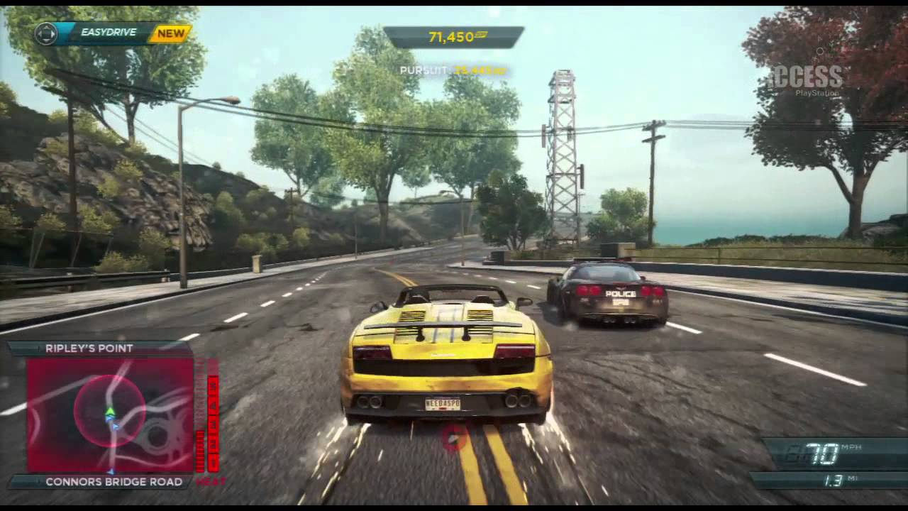 need for speed most wanted police chase gameplay ps3. Black Bedroom Furniture Sets. Home Design Ideas