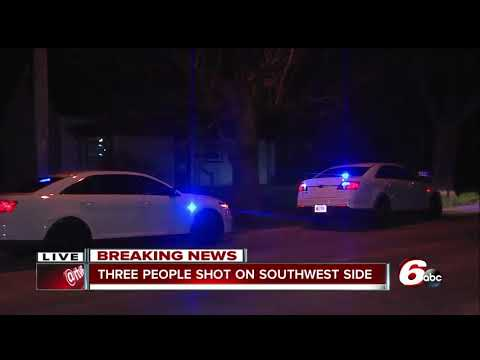 Three people shot on Indianapolis' southwest side