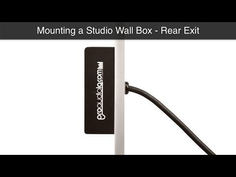How to mount a studio wall box - rear exit | Pro Audio LA