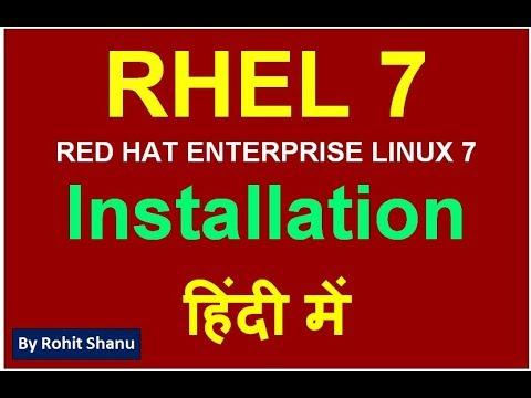 हिंदी में Linux 7 installation - RHEL 7 installation step by step in Hindi | by Rohit shanu