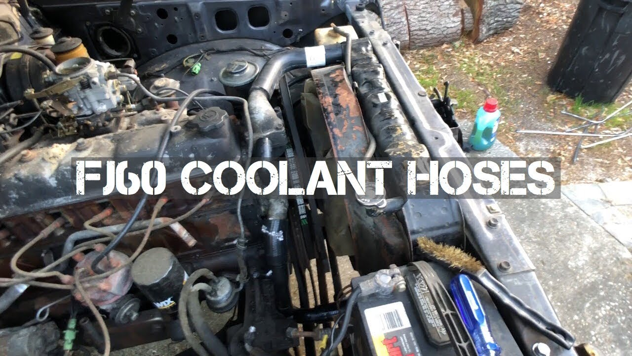 toyota land cruiser fj60 coolant hose replacement