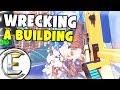 Building Demolition In Virtual Reality - Crane Driver Simulator VR HTC Vive (Blast the Past)