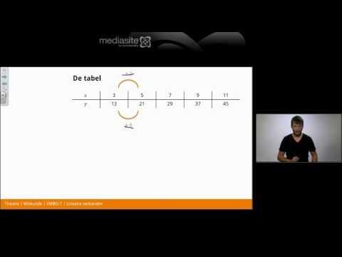 Lineaire verbanden | Examentraining Wiskunde VMBO