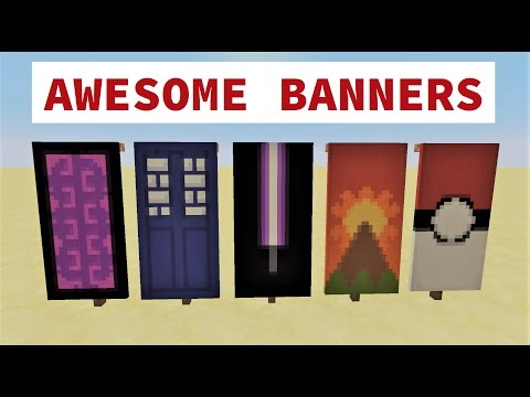 TOP 5 AWESOME MINECRAFT BANNER DESIGNS WITH TUTORIAL! ✔