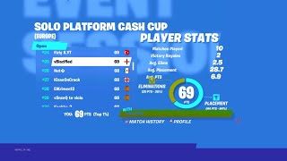 How I Placed 25th in the Solo Platform Cash Cup