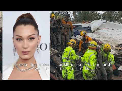 California mudslides death toll rises to 17 as Oprah Winfrey and Bella Hadid caught up in the