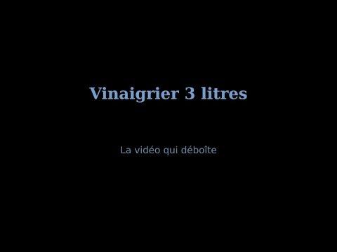 Vinaigrier chêne 3 litres + accessoires vidéo