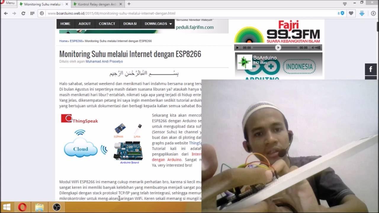 Penerapan IoT menggunakan Arduino dan ESP8266 pada Alamat Web