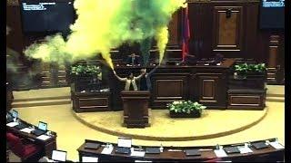 ԱԺ նիստերի դահլիճում Արարատ Միրզոյանն ու Լենա Նազարյանը վառեցին «Ազատության ջահը»