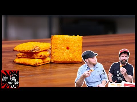 Pizza Hut Cheez-It Stuffed Pizza Taste Test