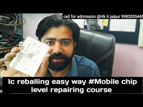 Ic reballing easy way #Mobile chip level repairing course #Mobile software course #Hk it jaipur