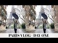 Paris Vlog Day 1- TRAVELLING & WE SAW THE REAL MONA LISA | Adina May