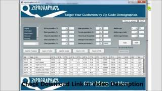Target Your Customers by Zip Code Demographics on Facebook, Twitter and Google(Target Your Customers by Zip Code Demographics Design - For : Facebook | Google | Twitter & Bing Ads Systems Link: http://allwebutilities.com/zipogphs.html ..., 2015-11-17T21:10:29.000Z)