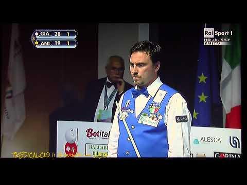ANIELLO vs GIACHETTI - SEMIFINALE 22°CAMPIONATO MONDIALE BILIARDO 2015 MILANO