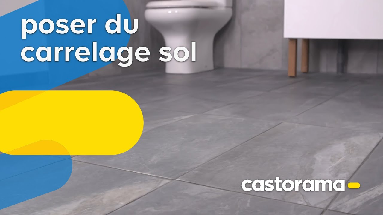 Comment poser du carrelage sol castorama youtube Pose carrelage sol
