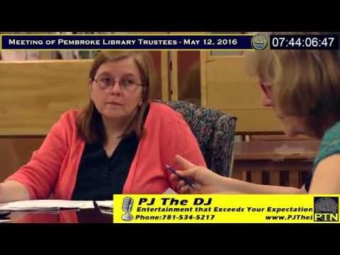 Pembroke Library Trustees - May 12, 2016