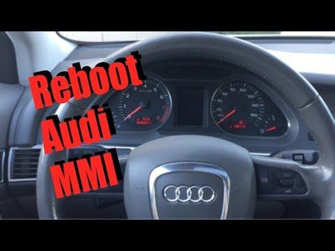 How to force reboot Audi MMI (A1 A4 A5 A6 A7 A8 Q3 Q5 Q7) restart frozen