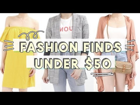 Fashion Finds Under $50 | Spring Summer Affordable Clothing