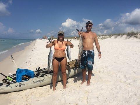 Kayak Fishing- Vacation Day- King Mackerel Offshore Pensacola Beach , Florida