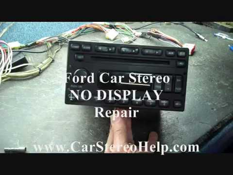 Ford Car Stereo Repair - NO DISPLAY - YouTube