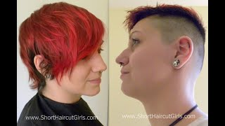 www.ShortHaircutGirls.com Bald Fade Makeover