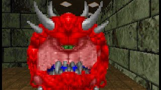 Cacodemon commits suicide in Doom 1.1