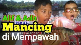 ADIT & ALIF ~ MANCING STRIKE BUAYA 😨 Ikan Nila & Mas di Mempawah Kalimantan Barat